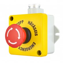 EMERGENCY/STOP PUSH-BUTTON IP67 240VAC